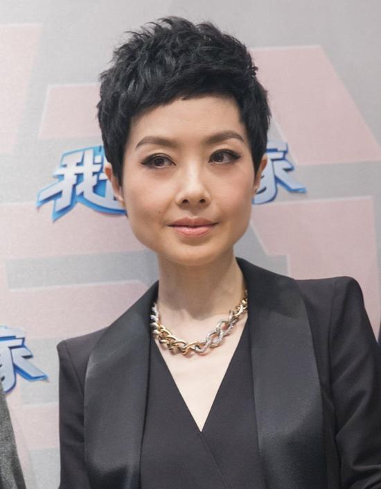 鲁豫新发型亮相北京卫视《我是演说家》媒体见面会