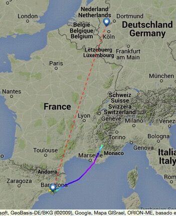空客320飞机坠毁  隶属德国之翼航空公司
