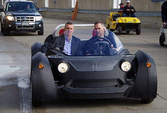 3d打印汽车只有两个座位 世界首台